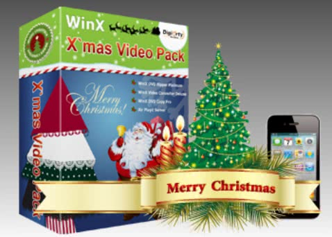 WinX Blu-ray Decrypterなどが無料で手に入るクリスマスキャンペーンを実施中!
