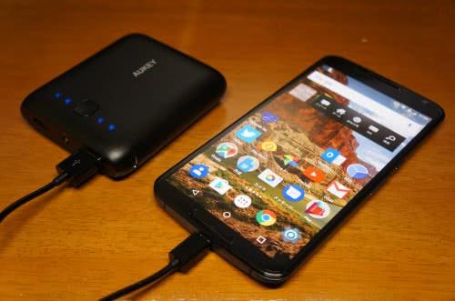 AUKEY モバイルバッテリー 10000mAh PB-N42 ブラックを使ってみた!(限定クーポンあり)
