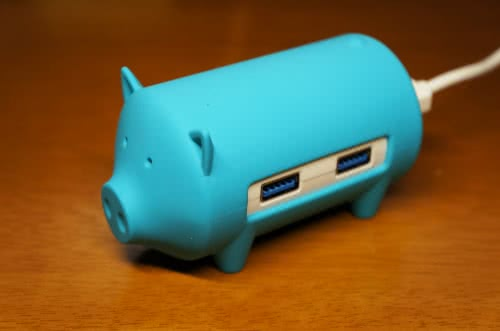かわいいブタさんデザインのORICO USB3.0 ハブ&カードリーダー 5in1を使ってみた!