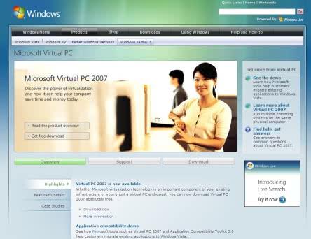 Vista対応「Microsoft Virtual PC 2007」正式版が無料公開!
