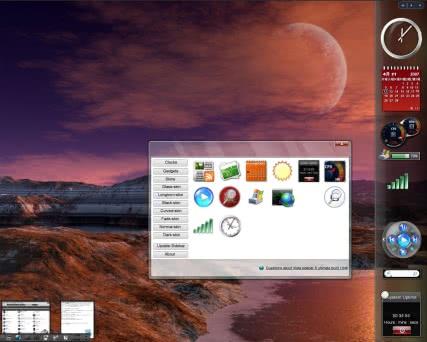 デスクトップ改造23 Thoosje Vista sidebarでビスタ風サイドバーを!