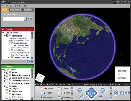 Google Earthで世界の衛星画像を見よう!