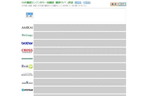 翻訳エンジン10サイトから一括翻訳してくれる「翻訳くらべ」!