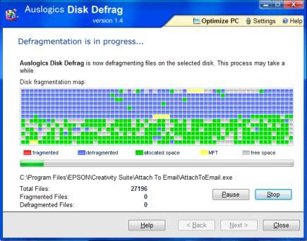 ハードディスクを高速でデフラグするソフト「Auslogics Disk Defrag」!