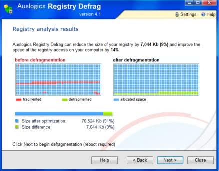 レジストリをデフラグできる「AusLogics Registry Defrag」!