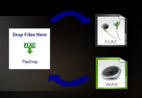 WAVとFLACをD&Dで簡単にエンコードできる「FLACdrop」!