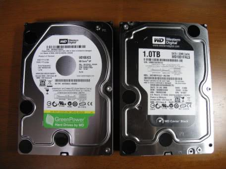 Western Digital WD10EACS-D6B0とWD1001FALSの2つの1TB HDDを買ってみた!