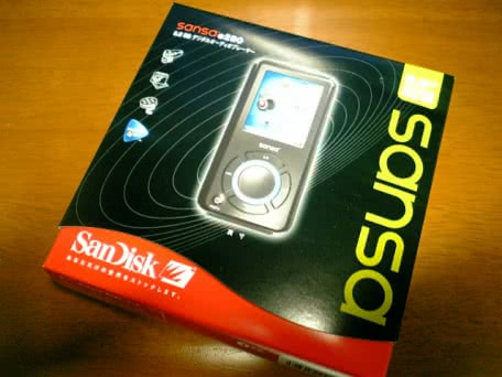 SanDiskのMP3プレーヤー Sansa e280を買ってみた!