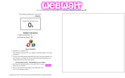 ウェブサイトの表示速度を測ってくれるサイト「WebWait」!