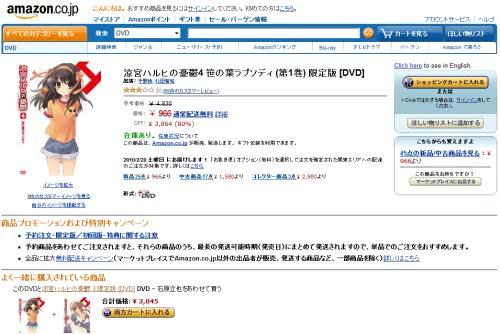 涼宮ハルヒの憂鬱のDVDがAmazonで投売り?最大80%offで販売中!